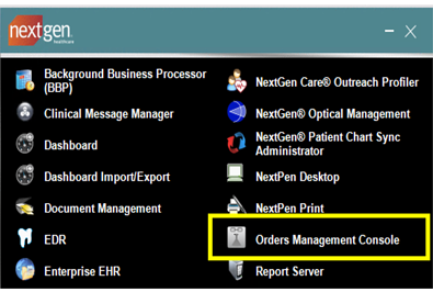 Orders Management Console-1